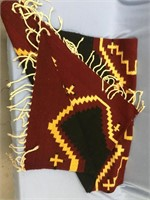 Beautiful Navajo woolen horse blanket 5' long
