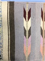 """Lot of 2 wool woven placemats  about 19"""" long"""