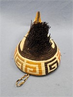 Hand woven Pacific  NW Indian style headdress