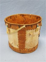 Fabulous bucket hand made from birch bark with