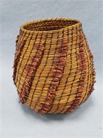 """Hand made basket from longleaf pine needles 8"""""""
