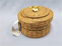 Lidded basket, Willow Creek, made from Georgia