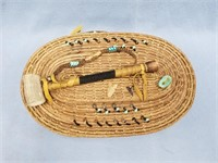 Lidded basket, Lost Creek, made from Georgia long