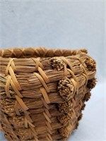 Woven basket made entirely of long leaf pine