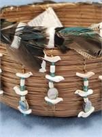 River Duck basket, with Ponderosa pine needles,