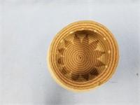 """Hand woven woolen basket 5.5""""              (P 1)"""