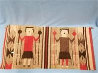 """Hand woven woolen small rug 33"""" long"""