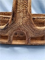 Outrageous woven basket with large handle with