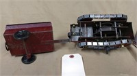 Structo Wind Up Tractor & Trailer