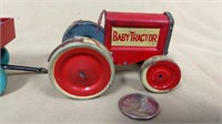 Baby Tractor and 2 Trailers & (*Box Top only)