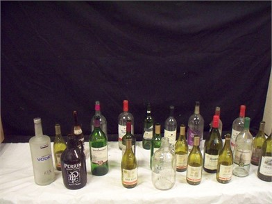 B7 5 Lg Lot Of Various Size Wine
