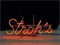 Stroh's Neon Advertising Light
