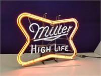 Miller High Life Neon Advertising Light