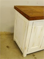 Solid Wood Bathroom Vanity Cabinet w/ Mirror