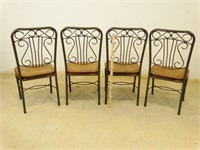 """Metal """"Harp"""" Pattern Dining Room Chairs"""