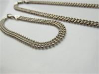 Sterling Silver Bead Link Choker & Bracelet