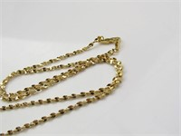 Golden Colored Hands Praying Necklace