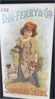 Vintage Standard Seeds Framed Ad