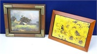 Framed Farmhouse & Yellow Daisies Print Artwork