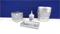 Silver-Colored Bathroom Set