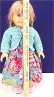 American Girl Blonde Doll in Hawaiian Print Attire