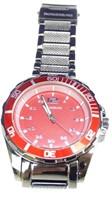 Men's Rousseau Red & Dark Silver Wristwatch