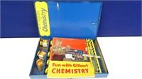 Vintage Gilbert Chemistry Set in Metal Case