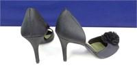 Fioni Night Black High Heel Shoes, Size 9.5M