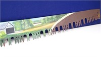 "Painted ""Covered Bridge"" Cross-Cut Saw Blade"