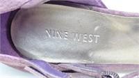 Nine West Purple Velour High Heel Shoes, Size 8