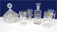 Tempered Glass & Crystal Glassware Bundle (6)