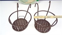 Towel Rack, Plant  Baskets, & Woven Tray
