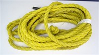 Appx. 50' Length of Braided Yellow Rope / Cording