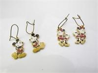 Mickey Mouse Earrings & Minnie Mouse Earrings