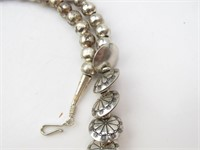 Vintage Steel Bead Necklace Strand