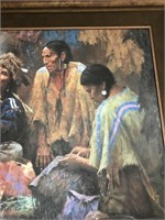 "Howard Terpning textured canvas art print, ""O"
