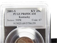 2001-S Kentucky State Quarter Proof Coin- PCGS