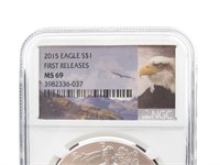 2005 Silver Eagle Dollar - NGC MS69
