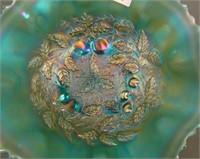 N'Wood A O Stippled Three Fruits Medallion Bowl