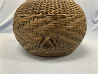 Beautiful hand woven basket made from Japanese bam