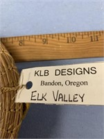 Elk Valley wall hanger,  made from Georgia longlea