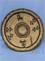 """Hand woven grass tray, about 12"""" long            ("""