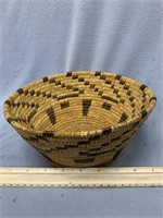"""Lot of 2:  hand woven grass basket about 8.75"""" and"""