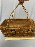 Very nice hand woven lunch basket made from cedar,
