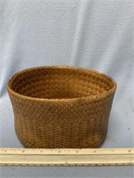 """Hand woven basket, very tight weave, 7"""" long"""