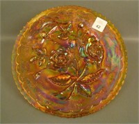 Imperial Amber Open Rose Plate