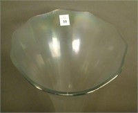 Imperial White Stretch Interior Panel Funeral Vase