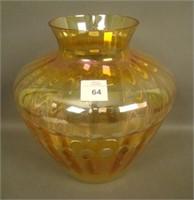 Imperial Marigold Balloons Wheel Cut Vase