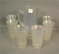 IMPERIAL WHITE STRETCH CHESTERFIELD 7 PC WATER SET