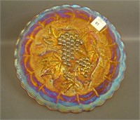 "Amber Imperial Grape 9"" Plate"
